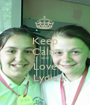 Keep Calm and Love x Lydia x - Personalised Poster A1 size