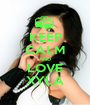 KEEP CALM AND LOVE XYLA - Personalised Poster A1 size