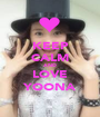 KEEP CALM AND LOVE YOONA - Personalised Poster A1 size
