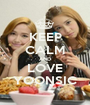 KEEP CALM AND LOVE YOONSIC - Personalised Poster A1 size