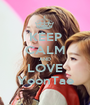 KEEP CALM AND LOVE YoonTae - Personalised Poster A1 size