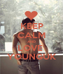 KEEP CALM AND LOVE  YOUNGUK - Personalised Poster A1 size