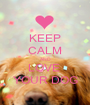 KEEP CALM AND LOVE  YOUR DOG - Personalised Poster A1 size