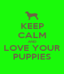 KEEP CALM AND LOVE YOUR PUPPIES - Personalised Poster A1 size