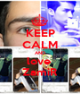 KEEP CALM AND love  ZamiR - Personalised Poster A1 size