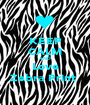 KEEP CALM AND Love Zebra Print  - Personalised Poster A1 size