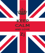 KEEP CALM AND LOVE Zj  - Personalised Poster A1 size