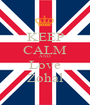 KEEP CALM AND Love Zohal - Personalised Poster A1 size