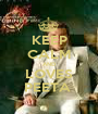 KEEP CALM AND LOVES PEETA  - Personalised Poster A1 size