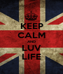 KEEP CALM AND LUV LIFE - Personalised Poster A1 size