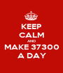 KEEP CALM AND MAKE 37300 A DAY - Personalised Poster A1 size