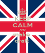KEEP CALM AND make  craft  - Personalised Poster A1 size