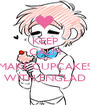 KEEP CALM AND MAKE CUPCAKES WITH ENGLAD - Personalised Poster A1 size