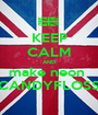 KEEP CALM AND make neon  CANDYFLOSS - Personalised Poster A1 size