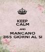 KEEP CALM AND MANCANO 365 GIORNI AL SI - Personalised Poster A1 size