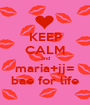 KEEP CALM and maria+jj= bae for life - Personalised Poster A1 size