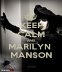 KEEP CALM AND MARILYN  MANSON - Personalised Poster A1 size