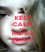 KEEP CALM AND marina genaro - Personalised Poster A1 size