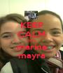 KEEP CALM AND marina mayra - Personalised Poster A1 size