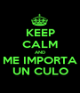 KEEP CALM AND ME IMPORTA UN CULO - Personalised Poster A1 size