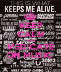 KEEP CALM AND MEDICATE ON MUSIC  - Personalised Poster A1 size