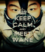 KEEP CALM AND MEET WANE - Personalised Poster A1 size