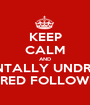 KEEP CALM AND MENTALLY UNDRESS JARED FOLLOWILL - Personalised Poster A1 size