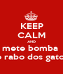 KEEP CALM AND mete bomba  no rabo dos gatos!! - Personalised Poster A1 size