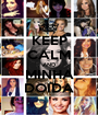 KEEP CALM AND MINHA DOIDA - Personalised Poster A1 size