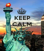 KEEP CALM AND NASTY YORK - Personalised Poster A1 size