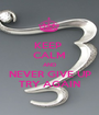KEEP  CALM AND NEVER GIVE UP TRY AGAIN - Personalised Poster A1 size