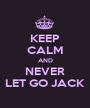 KEEP CALM AND NEVER LET GO JACK - Personalised Poster A1 size