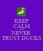 KEEP CALM AND NEVER TRUST DUCKS - Personalised Poster A1 size