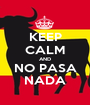 KEEP CALM AND NO PASA NADA - Personalised Poster A1 size