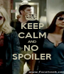 KEEP CALM AND NO  SPOILER - Personalised Poster A1 size
