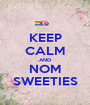 KEEP CALM AND NOM SWEETIES - Personalised Poster A1 size
