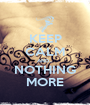 KEEP CALM AND... NOTHING MORE - Personalised Poster A1 size