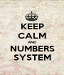 KEEP CALM AND NUMBERS SYSTEM - Personalised Poster A1 size