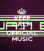 KEEP CALM AND OFFICIAL MUSIC - Personalised Poster A1 size