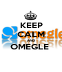 KEEP CALM AND OMEGLE   - Personalised Poster A1 size