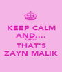 KEEP CALM AND.... OMG!! THAT'S ZAYN MALIK - Personalised Poster A1 size