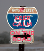 KEEP CALM AND ON THE ROAD - Personalised Poster A1 size