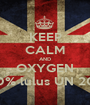 KEEP CALM AND OXYGEN 100% lulus UN 2013 - Personalised Poster A1 size