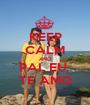 KEEP CALM AND PAI, EU  TE AMO - Personalised Poster A1 size