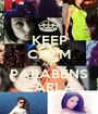 KEEP CALM AND PARABÉNS CARLA - Personalised Poster A1 size