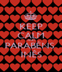 KEEP CALM AND PARABÉNS  INÊS - Personalised Poster A1 size