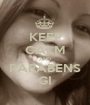 KEEP CALM AND PARABENS GI - Personalised Poster A1 size