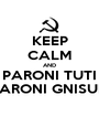 KEEP CALM AND PARONI TUTI PARONI GNISUN - Personalised Poster A1 size