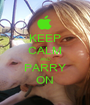 KEEP CALM AND PARRY ON - Personalised Poster A1 size