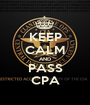 KEEP CALM AND PASS CPA - Personalised Poster A1 size